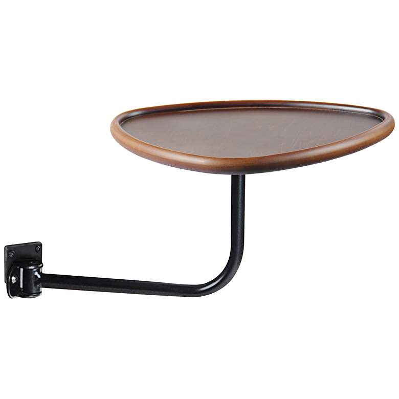 """Smoky Wood 14 3/4"""" Wide Tray Table for Recliners"""