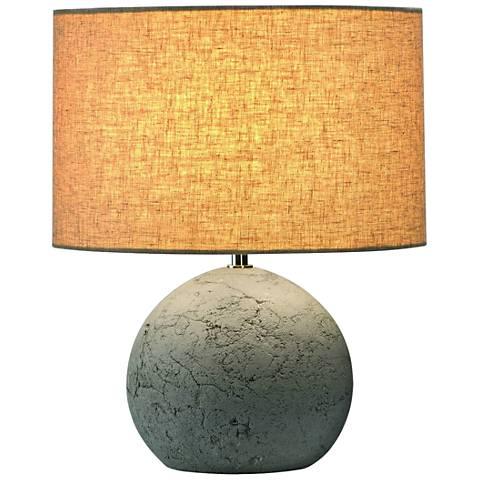 """Soprana 14""""H Concrete Gray Round Accent Table Lamp"""