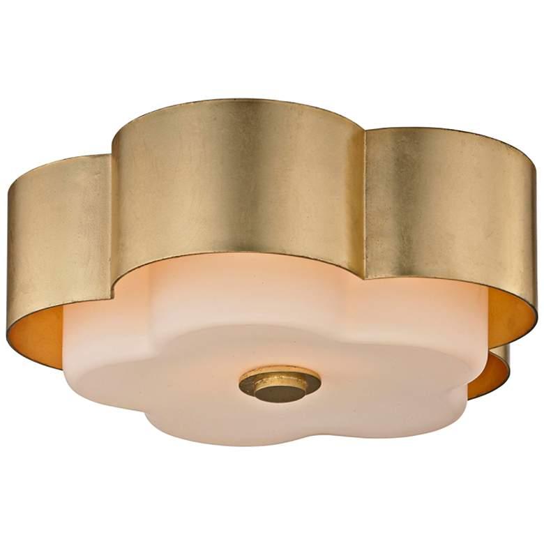 """Allure 13 1/2"""" Wide Gold Leaf Ceiling Light"""