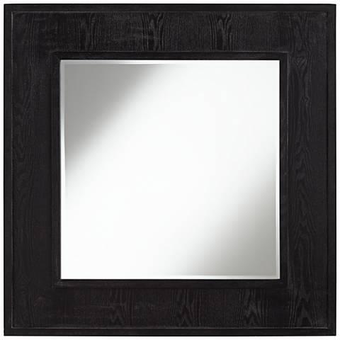 "Clinton Black Wood 39 1/2"" Square Wall Mirror"