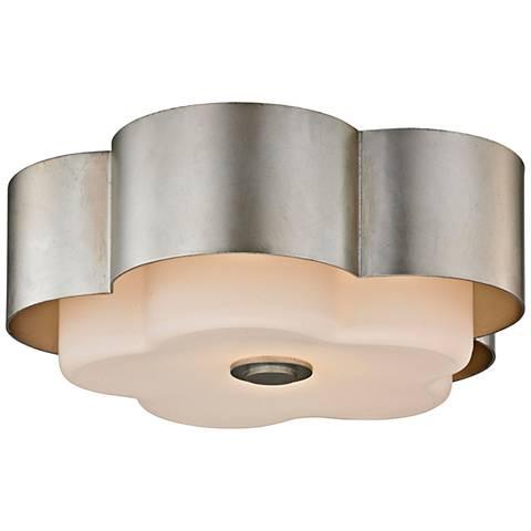 "Allure 13 1/2"" Wide Silver Leaf Ceiling Light"