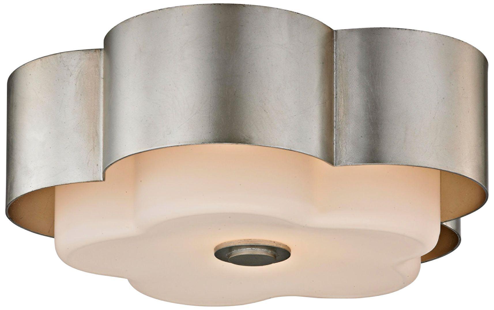Allure 13 1/2  Wide Silver Leaf Ceiling Light  sc 1 st  L&s Plus & Allure 13 1/2