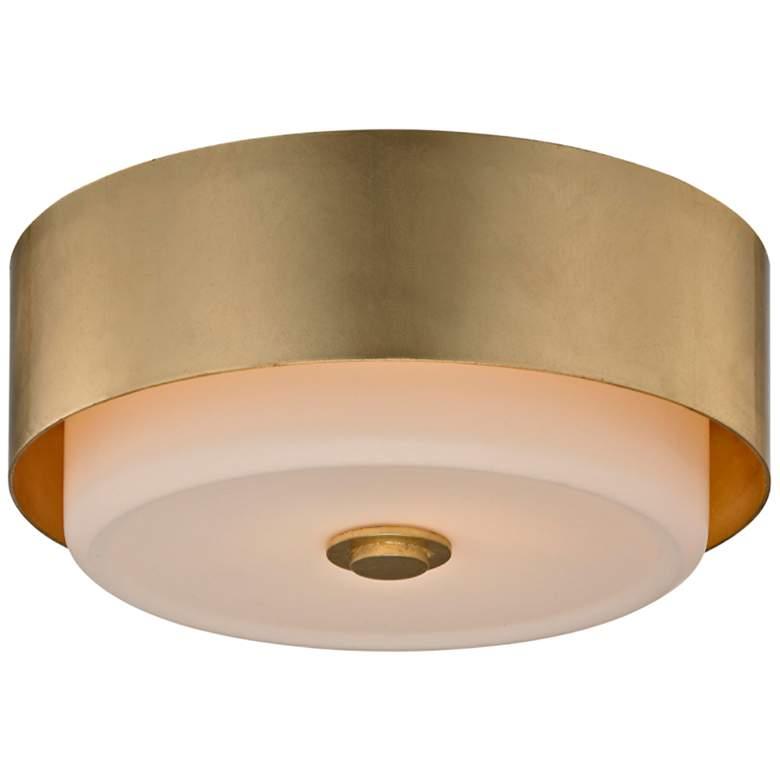 "Allure 13"" Wide Gold Leaf Round Ceiling Light"
