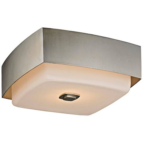 "Allure 13"" Wide Silver Leaf Square Ceiling Light"
