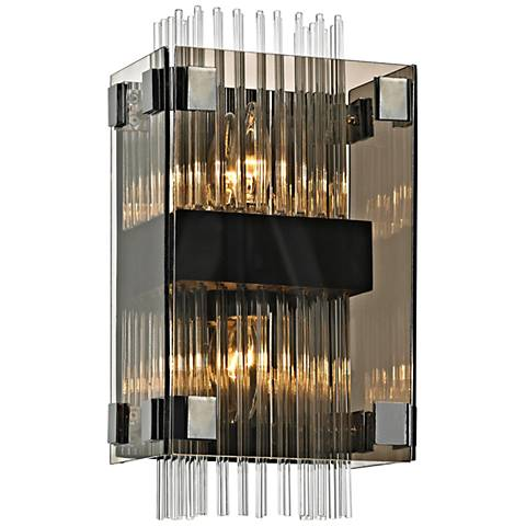 "Apollo 14"" High Dark Bronze and Polished Chrome Wall Sconce"