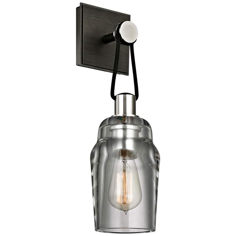 """Citizen 16 1/4""""H Graphite and Polished Nickel Wall Sconce"""