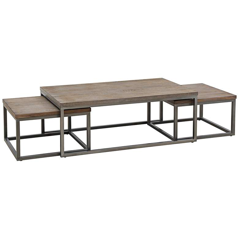 Southport Gray 3-Piece Cocktail Table and Nesting Table Set