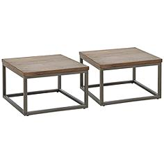 Klaussner Southport Driftwood Gray Nesting Table Set of 2