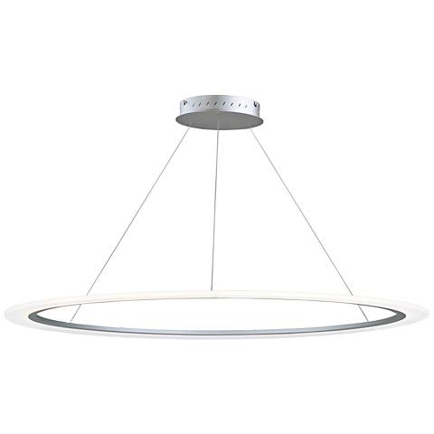 "ET2 Saturn II 51 1/4"" Wide Matte Silver LED Pendant Light"