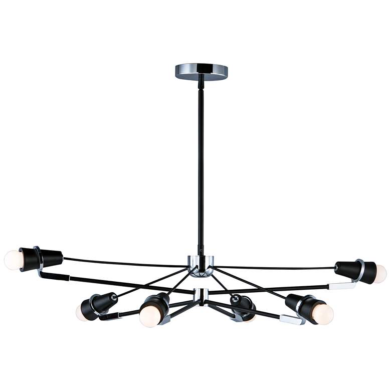 "ET2 Bounce 28 1/2"" W Black and Chrome 6-Light LED Pendant Light"