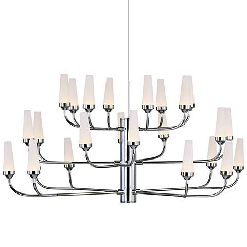 "ET2 Candela 33"" Wide Polished Chrome 24-Light LED Pendant Light"