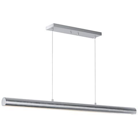 """ET2 Alumilux 46 3/4"""" Wide Satin Aluminum LED Island Pendant"""