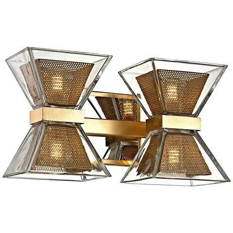 "Expression 7"" High Gold Leaf 4-Light LED Wall Sconce"