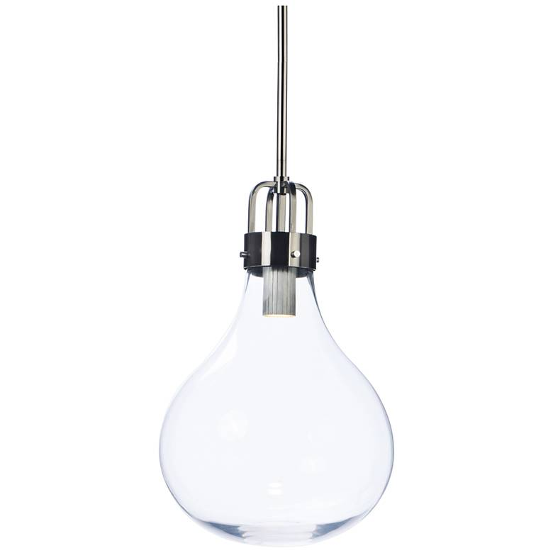 "Maxim Kinetic 13 3/4""W Dark Satin Nickel LED Pendant Light"