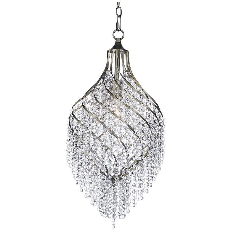 """Maxim Twirl 11 1/2"""" Wide Golden Silver Mini Pendant"""
