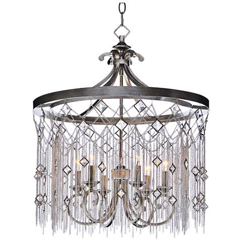 "Maxim Alessandra 24"" Wide Silver Mist 6-Light Chandelier"