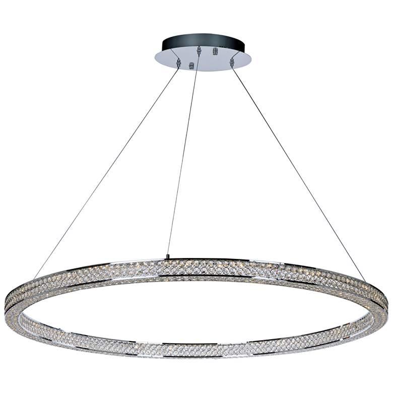 """Maxim Eternity 50"""" Wide Polished Chrome LED Pendant Light"""