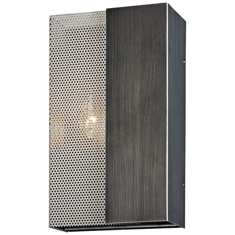 """Impression 12"""" High Graphite and Satin Nickel Wall Sconce"""