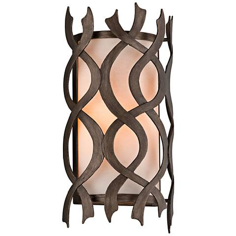 "Mai Tai 14 3/4"" High Cottage Bronze Wall Sconce"
