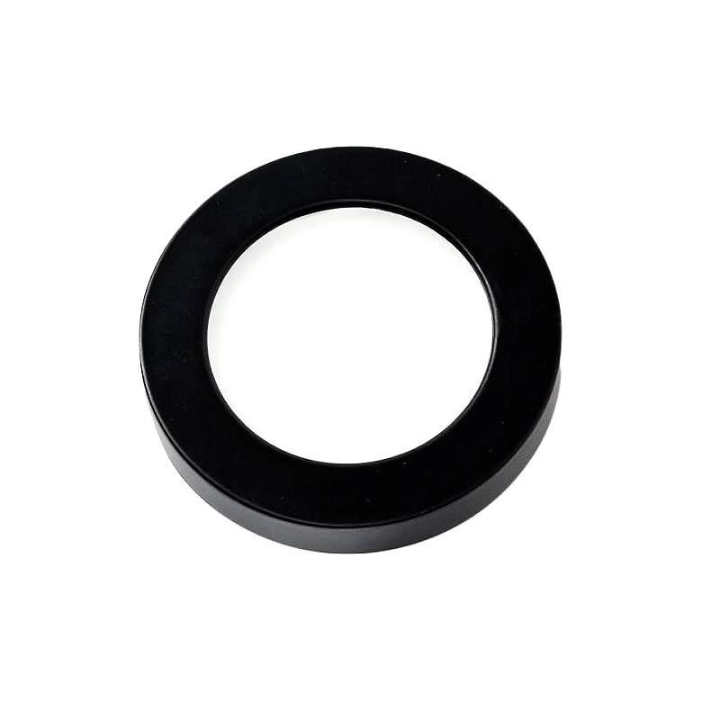 """WAC HR90 3"""" Wide Black Edge-lit LED Button Light"""