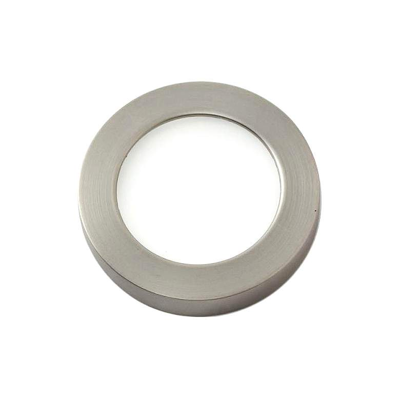 "WAC HR90 3"" Wide Brushed Nickel Edge-lit LED Button Light"