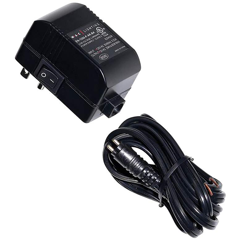 "WAC 2.75"" Wide Black Plug-In Class 2 Transformer"