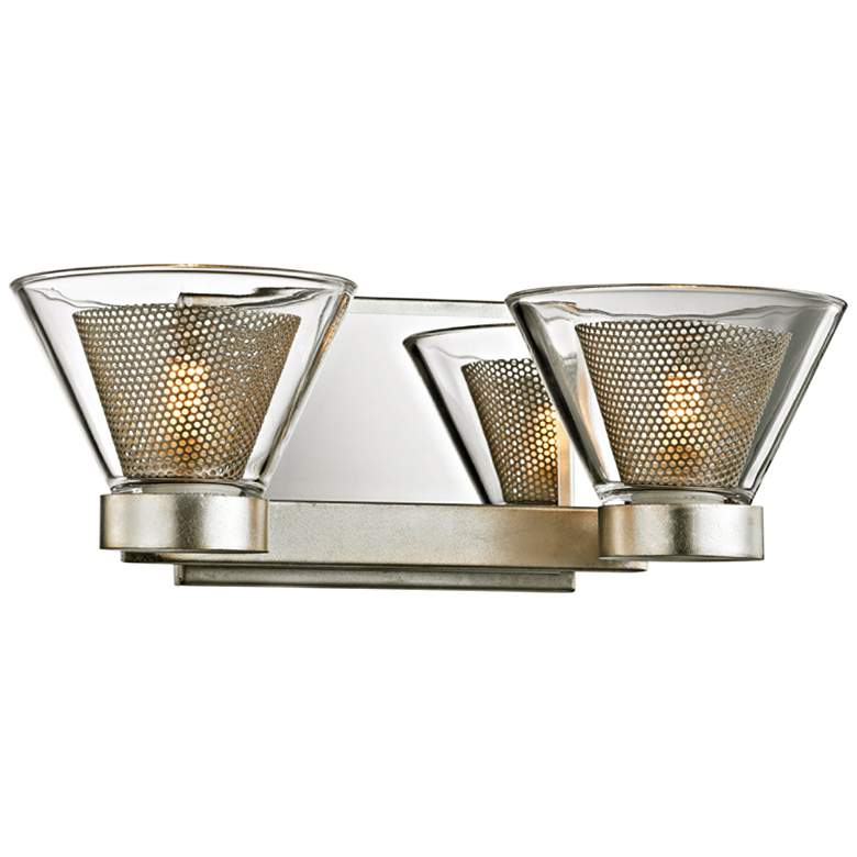 """Wink 4 1/2""""H Silver Leaf and Chrome 2-Light LED Wall Sconce"""