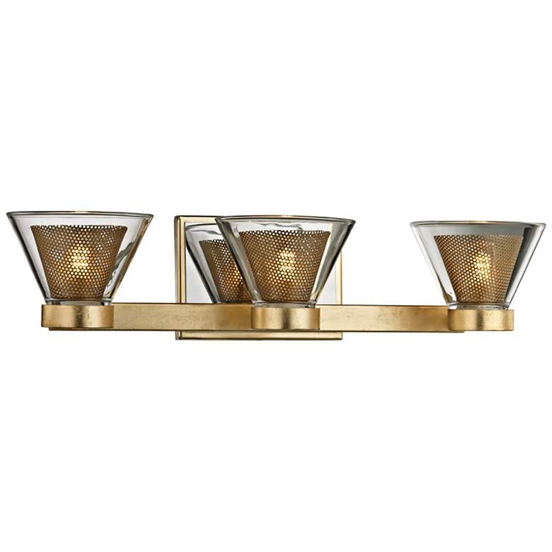 """Wink 20"""" Wide Gold Leaf and Chrome 3-Light LED Bath Light"""
