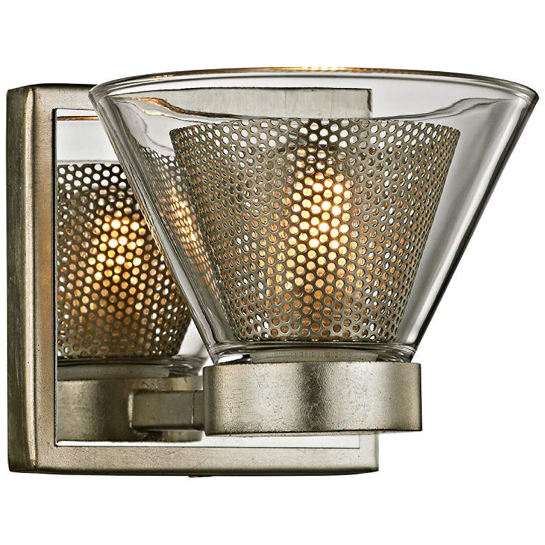 """Wink 4 1/2""""H Silver Leaf and Polished Chrome LED Wall Sconce"""