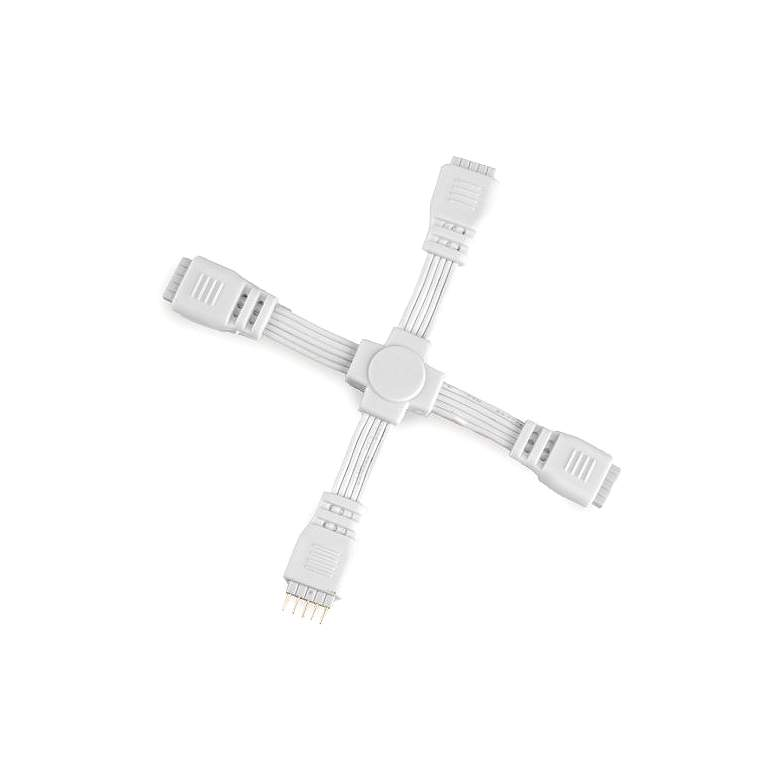 """WAC 3.75"""" Wide White 4-Way """"X"""" Connector for"""