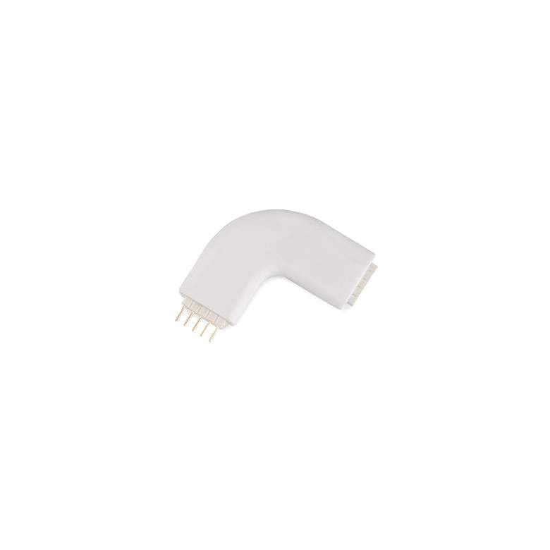 """WAC 1.38"""" Wide White """"L"""" Connector for 24V InvisiLED"""