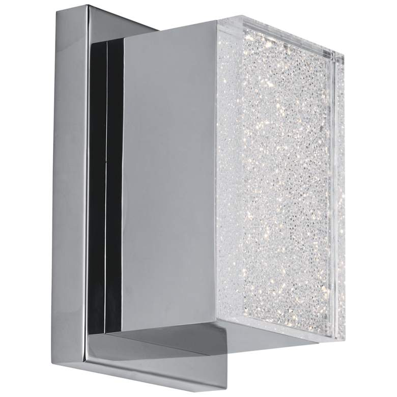 "ET2 Pizzazz LED 7"" High Polished Chrome LED Wall Sconce"