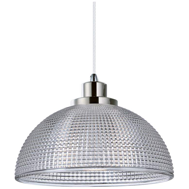 "Maxim Retro 9 3/4"" Polished Nickel Dome LED Mini-Pendant"