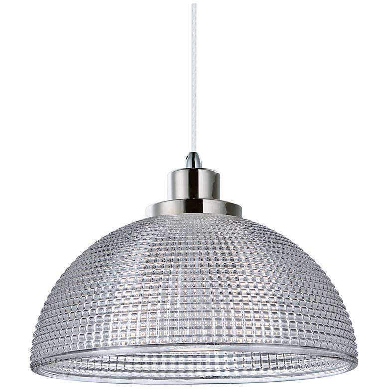 "Maxim Retro 9 3/4"" Polished Nickel Dome LED Mini-Pendant"