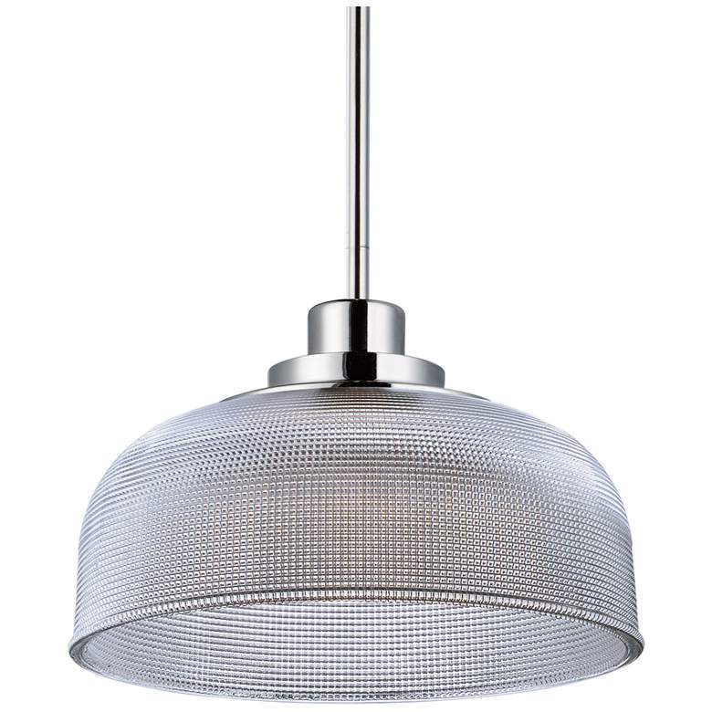 "Maxim Retro 10 1/2"" Wide Polished Nickel LED"
