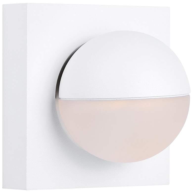 "ET2 Alumilux AL 4 1/2"" High Spherical White LED Wall Sconce"