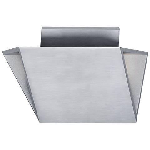 "Alumilux AL 8 1/2""H Satin Aluminum LED Outdoor Wall Light"