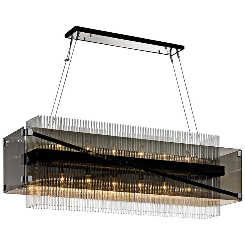 "Apollo 49 3/4"" Wide Bronze Kitchen Island Light"