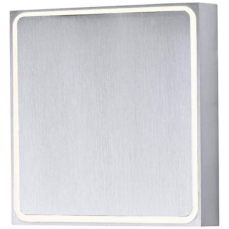 "Alumilux AL 4 1/2""H Satin Aluminum LED Outdoor Wall Light"