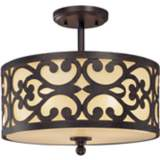 """Nanti Collection Iron Oxide 14"""" Wide Ceiling Light"""