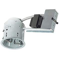 Insulated ceiling remodel housing recessed lighting lamps plus juno 4 juno 4 low voltage non ic remodel recessed light housing aloadofball Choice Image