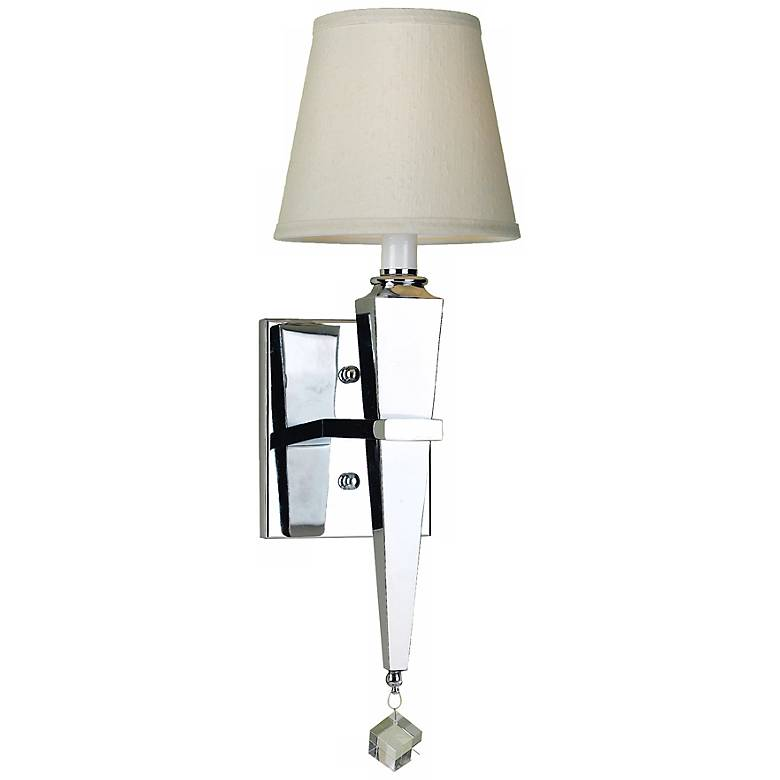 Margo Chrome Wall Sconce with Cream Shade