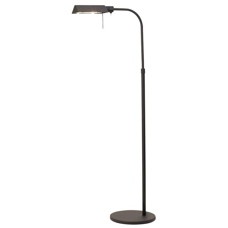 Sonneman Black Tenda Pharmacy Adjustable Floor Lamp