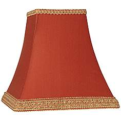 Orange lamp shades lamps plus rust square sided lamp shade 5x10x9 spider aloadofball Gallery