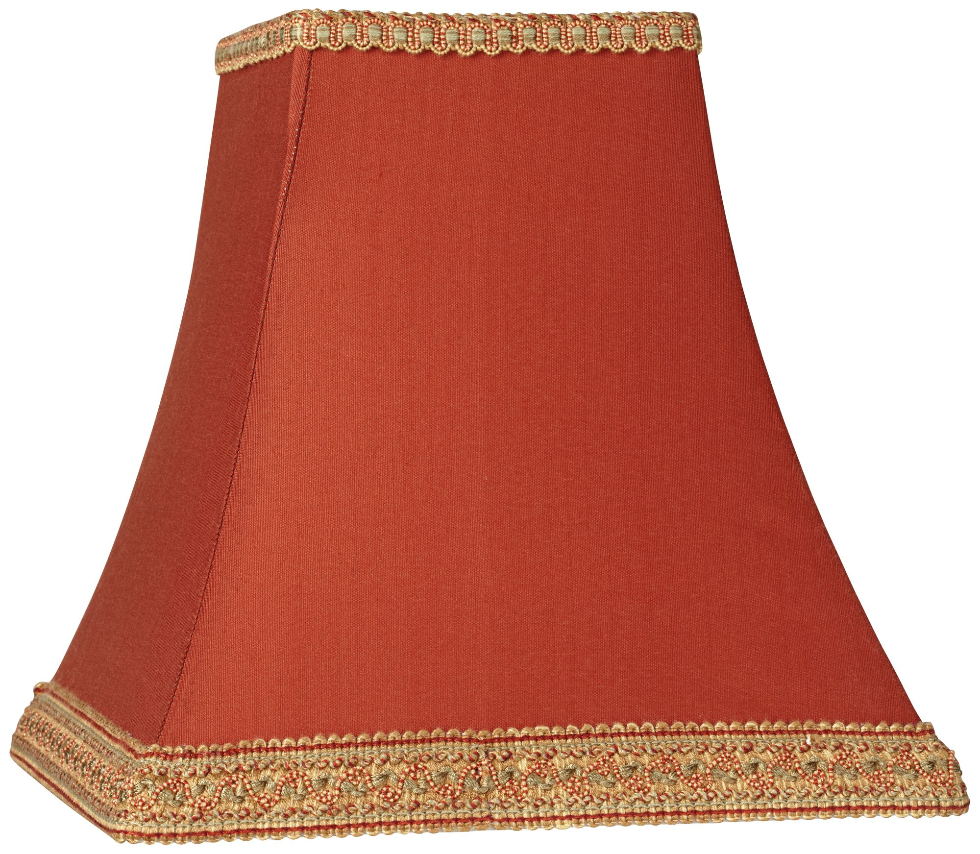 Attrayant Rust Square Sided Lamp Shade 5x10x9 (Spider)