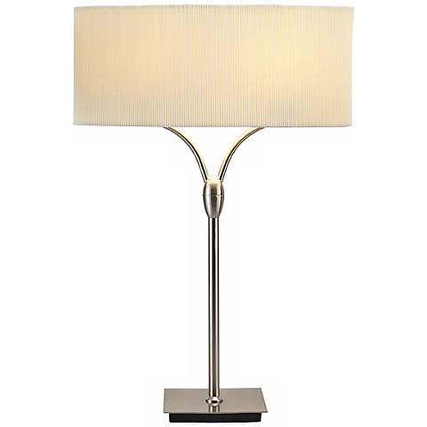 Divinity Satin Steel Contemporary Table Lamp
