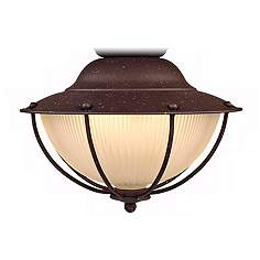 Ceiling fan light kits lamps plus outdoor wt location rust cage ceiling fan light kit aloadofball Images