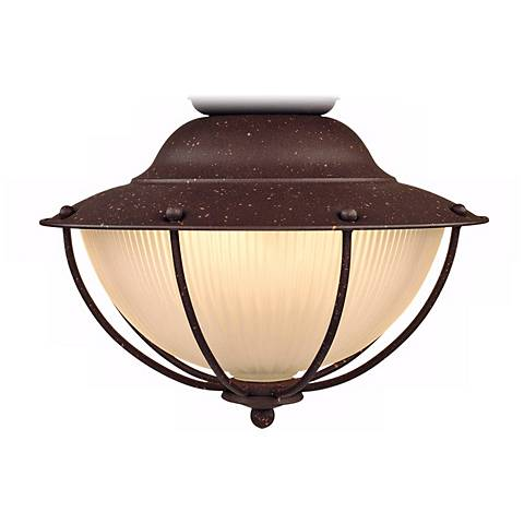 Outdoor Wt-Location Rust Cage Ceiling Fan Light Kit