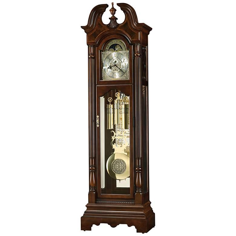 "Howard Miller Bretheran Cherry Bordeaux 87 3/4""H Floor Clock"