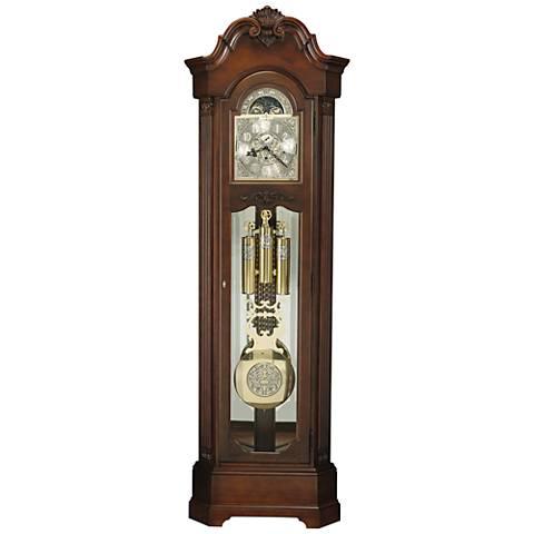 """Howard Miller Celine Rustic Cherry 84 3/4"""" High Floor Clock"""